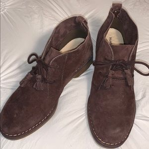 Hush puppies suede boots size 8.5